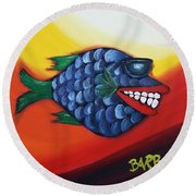 Cool Dude  Round Beach Towel