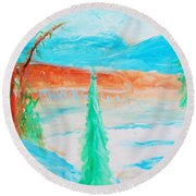 Cool Landscape Round Beach Towel