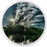 Cool Looking Cloud In The Morning Sun Round Beach Towel