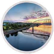 Coolidge Park Sunrise Round Beach Towel