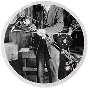 Coolidge X-ray Tube Inventor Round Beach Towel