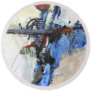 Coolly Collected Round Beach Towel by Ron Stephens