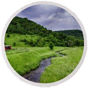 Coon Valley Round Beach Towel