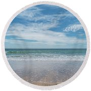 Coonah Waves Round Beach Towel