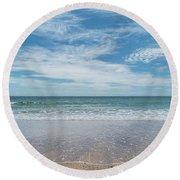 Coonah Waves Round Beach Towel