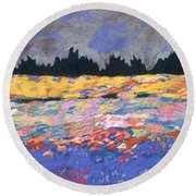 cooney sunset I Round Beach Towel