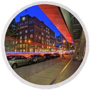 Round Beach Towel featuring the photograph Cooper Union Nyc by Susan Candelario