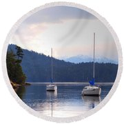 Cooper's Cove 1 Round Beach Towel by Randy Hall