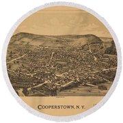 Cooperstown N Y 1890 Round Beach Towel