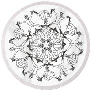 Coots Ala Bugsby Round Beach Towel