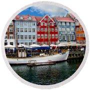 Copenhagen - Denmark Round Beach Towel