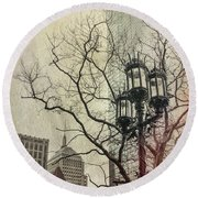 Round Beach Towel featuring the photograph Copley Square - Boston by Joann Vitali