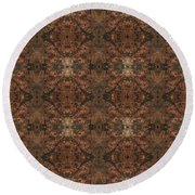 Copper Abstract 1 Round Beach Towel
