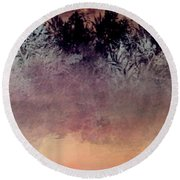 Copper Lake Round Beach Towel