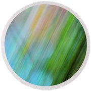 Round Beach Towel featuring the photograph Copper Rainbow by Cheryl McClure