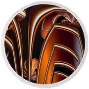 Copper Shields Round Beach Towel
