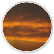 Round Beach Towel featuring the photograph Copper Sky  Ozarks by Don Koester