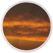 Copper Sky  Ozarks Round Beach Towel by Don Koester