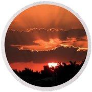Copper Sunset Round Beach Towel by Rosalie Scanlon