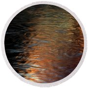 Round Beach Towel featuring the photograph Copper Water by Kenneth Campbell