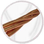 Copper Wire Strands Round Beach Towel