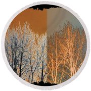 Round Beach Towel featuring the digital art Coppertone Fusion by Will Borden