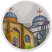 Coptic Church Rebirth Round Beach Towel by Joseph Hollingsworth
