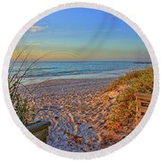 Coquina Beach By H H Photography Of Florida  Round Beach Towel
