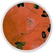Coral Bells Round Beach Towel