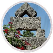 Coral Castle For Love Round Beach Towel by Shirley Heyn