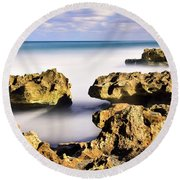 Coral Cove Seascape Round Beach Towel
