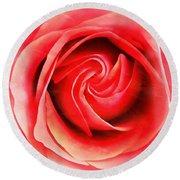 Coral Rose - My Pleasure - Rose Round Beach Towel