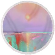 Coral Shores Round Beach Towel