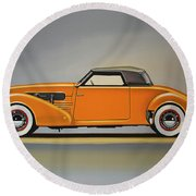 Cord 810 1937 Painting Round Beach Towel