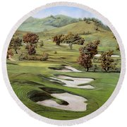 Cordevalle Golf Course Round Beach Towel