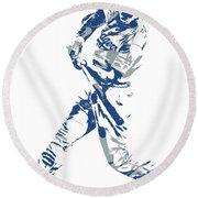 Corey Seager Los Angeles Dodgers Pixel Art 10 Round Beach Towel