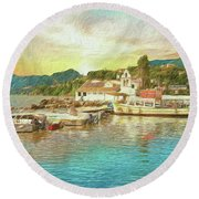 Corfu 30 My Passion Paintography Round Beach Towel