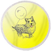 Corgi Round Beach Towel