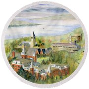 Cornell University Round Beach Towel by Melly Terpening