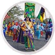 Corner Club 3 -mardi Gras New Orleans Round Beach Towel