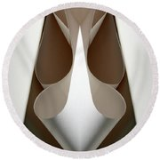 Cornered Curves Round Beach Towel