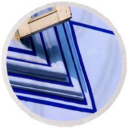 Round Beach Towel featuring the photograph Cornering The Blues by Prakash Ghai