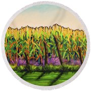 Cornfield Color Round Beach Towel