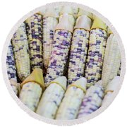 Corns  Round Beach Towel by Jingjits Photography