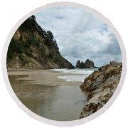 Coromandel, New Zealand Round Beach Towel