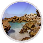 Round Beach Towel featuring the photograph Corona Tide Pools by Jeremy Farnsworth