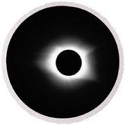 Totality 8-21-2017 Round Beach Towel