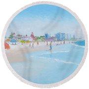Coronado Beach San Diego Round Beach Towel