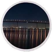 Coronado Bridge San Diego Round Beach Towel