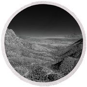 Coronado National Memorial In Infrared Round Beach Towel